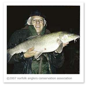 Chris Turnbull with 14lb barbel