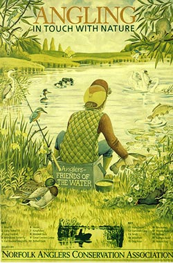 Anglers in touch with nature poster